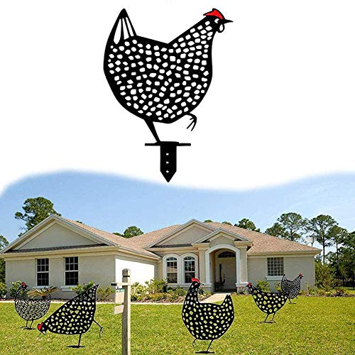 Chicken Yard Art Garden Statue Decor - Ornement de...