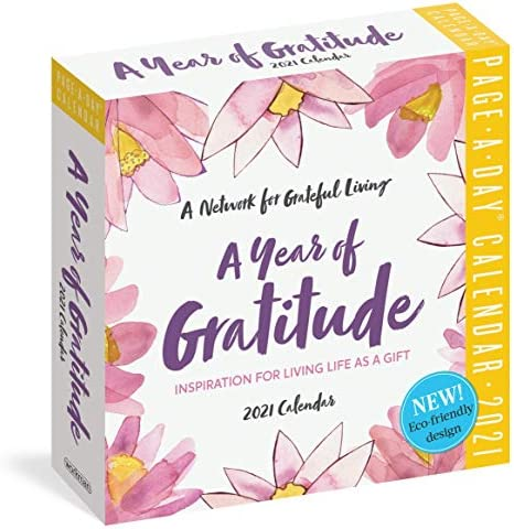 A Year of Gratitude Page A Day Calendar 2021 6 x 6 Inches product image
