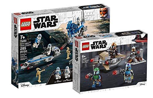 Collectix Lego Star Wars - Set: 75280 Clone Troopers™ der 501. Legion + 75267 Mandalorianer™ Battle Pack