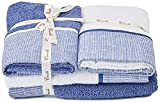 creole riga asciugamani da bagno, cotone, blu, 4 unità