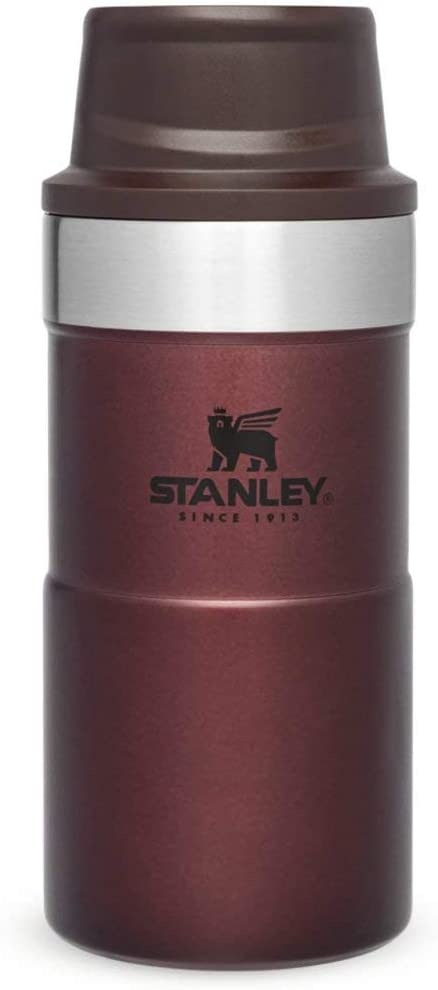 Stanley Trigger Action Travel Mug 0.25L / 8.5OZ Vino – Anti-Fugas - Vaso Para Café, Té y Agua - Sin BPA - La Taza de Viaje de Acero Inoxidable - Apta Para Lavavajillas