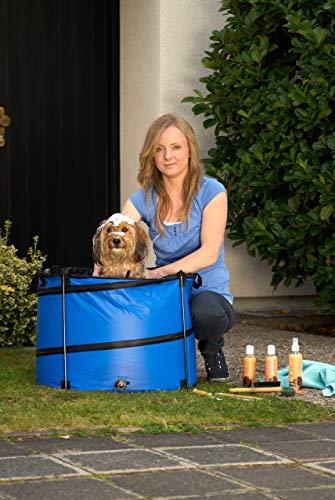 Karlie Doggy Shower Quick Wash für kleine Hunde, 60 x 45 cm, rund, blau