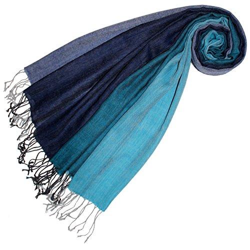 Lorenzo Cana Premium Damen Pashmina Schal Schaltuch 50% Kaschmir 50% Wolle Stola Tuch Umschlagtuch Uni Damenschal Damentuch Damen mehrfarbig