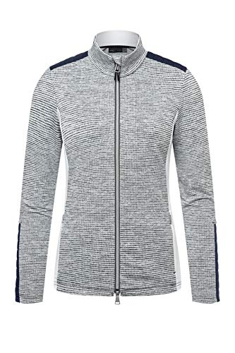 KJUS Women Radun Midlayer Jacket Grau, Damen Freizeitjacke, Größe 38 - Farbe White Melange - Atlanta Blue