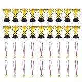 Amosfun medaglie d'oro per Bambini Vincitore del Premio in plastica medaglie trofei e prem...