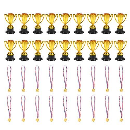 Amosfun medaglie d'oro per Bambini Vincitore del Premio in plastica medaglie trofei e premi premi in premi per Sport Olimpiadi Eventi a Scuola competizioni 36 Pezzi