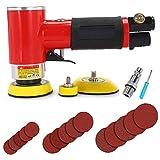 Autolock Mini lijadora orbital neumática comprimido 1/2/3 pulgadas 15000 rpm + 1 destornillador / 1 conector rápido de manguera de aire / 15 hojas de papel de lija