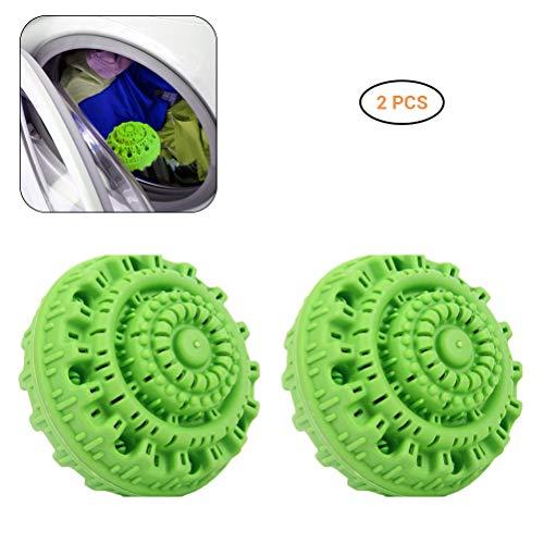 Phayee wasbal met 2 stuks nano-keramiek bamboehoutskool antibacteriële sterke desinfectie wasmachine speciale wasbol, duurzaam en duurzaam