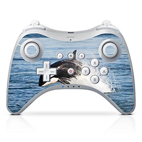 DeinDesign Skin kompatibel mit Nintendo Wii U Pro Controller Folie Sticker Orca Wal Meer