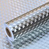 2 Meters Aluminum Foil Stickers, Kitchen Oil Proof Sticker, Kitchen Backsplash Wallpaper Self-Adhesive