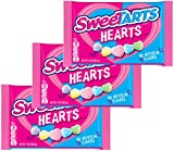 Sweetarts Heart Shaped Candy - Valentines Day Assorted Variety Mix - Sweet Tarts Valentine Three Pack - Holiday Candies For Kids School Home Office Work - 14 Ounce Bag (3 Pack)