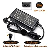 19v 3.42A 65W Ac Adapter Charger for Toshiba Satellite C50 C55 C55d C55t C55dt C75 C75d E45T L55 L55d L75 L75d S75 S55 S55T S50 E45 CL15T CL45 L15 L55T; C855D-S5230 C855D-S5232 C855D-S5237 C855-S5214