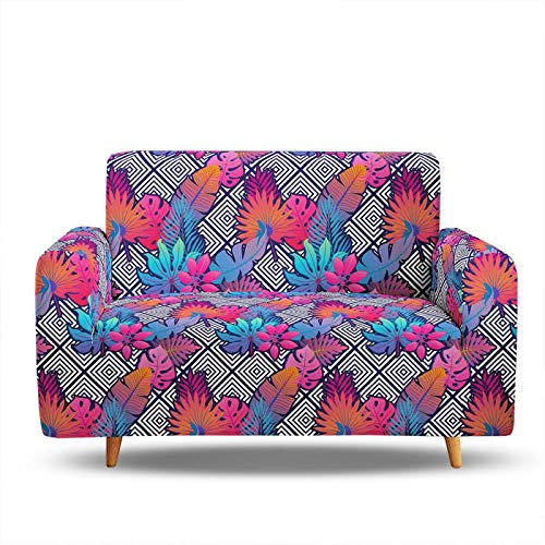 3D Digital Printing Sofa Slipcover,Jacquard Sofa Cover Stretch Slipcovers,Stylish Modern Furniture Sofa Covers,Easy To Install,Fit 1/2/3/4 Seater 2 Seater