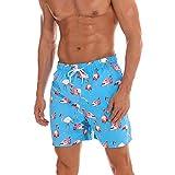GooDoi Pantalones Cortos De Natación para Hombre Pantalones Cortos Bañadores Impermeables De Secado Rápido Pantalones De Playa Pantalones Cortos para Surf De Playa Traje De Baño Deportivo