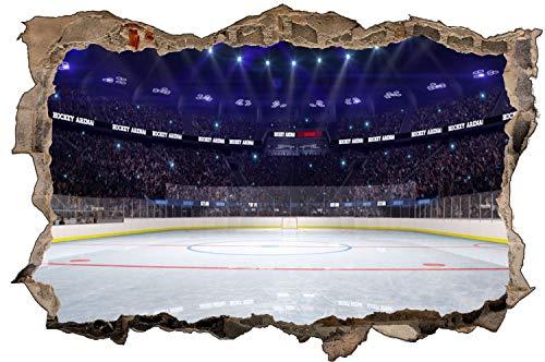 Eishockey Sport Stadion Feld Wandtattoo Wandsticker Wandaufkleber D1858 Größe 70 cm x 110 cm
