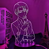 Lámpara de noche 3D LED con ilusión en 3D, diseño de anime, arte online, figura de Kirito para decoración de habitaciones, luz nocturna, regalo de cumpleaños, decoración para el hogar