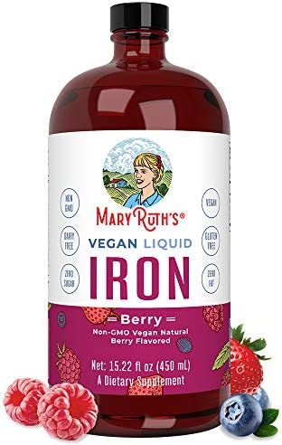 Liquid Iron for Kids Adults by MaryRuth s from Ferrochel Ferrous Bisglycinate Chelate 18mg per product image