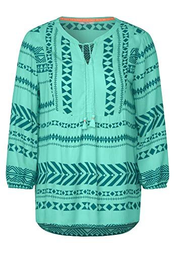 Cecil Damen 342034 Bluse, Light Molecule Mint Green, Large