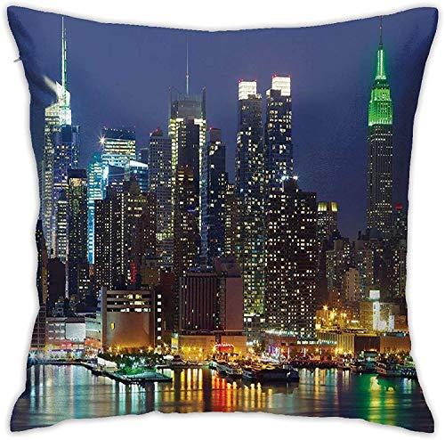 BONRI New York City Hudson River Kissenbezüge, Kissenbezug Kissenbezug für Sofa Couch Dekor , (18
