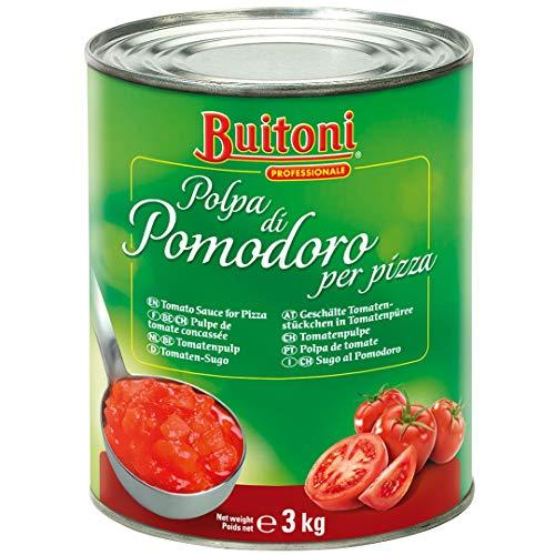 Buitoni Tomaten-Sugo Polpa di Pomodoro per Pizza (ohne Haut, Kerne und Strunk) 1er Pack (1 x 3kg Dose)