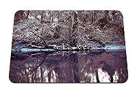 22cmx18cm マウスパッド (湖木茂み茂み霜霜木) パターンカスタムの マウスパッド