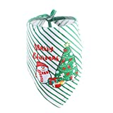 CHIRORO Pañuelo de Toalla de Saliva para Perro Bufanda con Estampado navideño Bufanda Cachorro Saliva Toalla Baberos Accesorios,Estilo 1