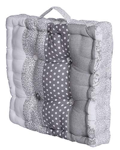 Matratzenkissen Patchwork Kissen Sitzkissen Stuhlkissen 40x40cm Bodenkissen KDM018 Palazzo exklusiv