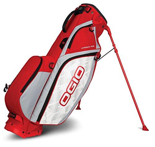 OGIO 2018Cirrus Mo Sac de Golf avec Support, Cirrus Stand MB Bag, Rush Red