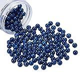 NBEADS 180Piezas 8mm Cuentas de Lapislázuli Naturales, Cuentas Redondas de Piedra Natural para la Fabricación de Joyas Artesanales, Agujero: 1 mm
