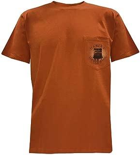 HARLEY-DAVIDSON Men's Technic Overview Chest Pocket T-Shirt, Orange 5L38-HF1W