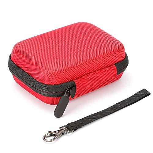 Hard Case für Samsung T5 / T3 / T1 tragbare 250 GB 500 GB 1 TB 2 TB SSD USB 3.0 Externe Solid-State-Laufwerke, Reisetasche mit Aufbewahrungstasche - Rot