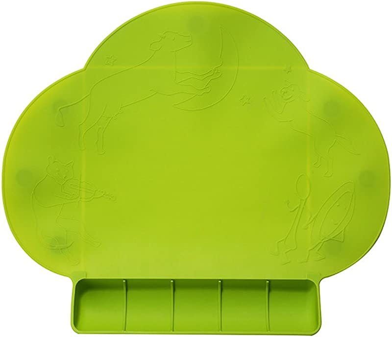 Baby Placemat Portable Silicone Placemat For Toddlers Waterproof Baby Placemat Travel Food Mat Non Slip Silicone Placemat Reusable Easy Clean For Babies Green