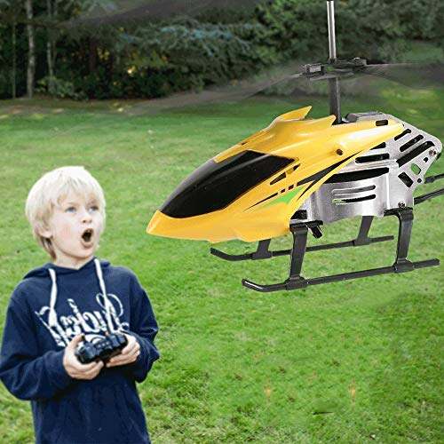 Kioiien RC Helicopters, 3.5 Canales Interior Outdoor RC Drone Aircraft Juguete Empotrado Gyro, RC Radio Control Remoto Helicóptero para Niños Adolescentes Regalos