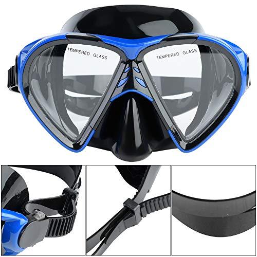 Amplia gafas de snorkeling, gafas lentes hechas de marco de calidad de vidrio templado.