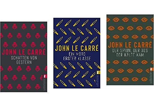 """Band 1-3 der Spionage Krimis von John Le Carre\"""" 1. Schatten von Gestern & 2. Ein Mord erster Klasse & 3. Der Spion, der aus der Kälte kam\"""""""