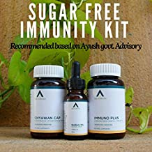 Age Ayurveda Sugar Free Immunity Kit Made According To Ayush Guidelines (Chyawan Cap, Immuno Plus & Nasja Oil)