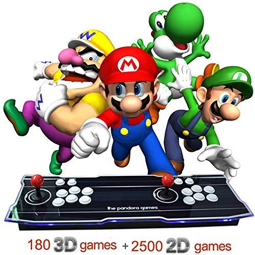 LWTOP Arcade Juego de Consola 1080P 3D y 2D Juegos de 2680 en 1 Caja de Pandora 3D 2 Jugadores Arcade Machine Arcade Joystick con la Ayuda se amplía Juegos de 6000 para PC/TV / PS4