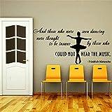 wandaufkleber baumstamm Mctum Marke Zitate Aufkleber Home Decor, diejenigen, die gesehen wurden, Tanzen Balletttänzer Ballerina Kinder Kindergarten