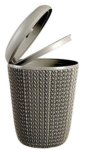 Keter Papelera para el baño Knit, Marrón Topo, 20.4x20.4x27.5 cm, 235192