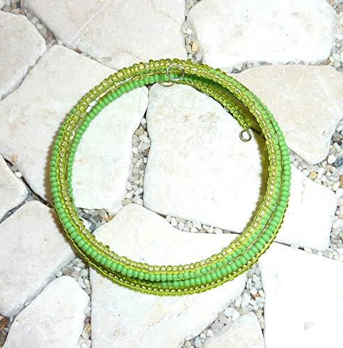 Spiralarmband - lindgrün & apfelgrün -