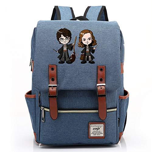 MMZ Mochila para Estudiantes de Secundaria, Mochila Escolar de Avatar de Personaje Lindo para niños y niñas, Mochila de Viaje para niños Azul Medio