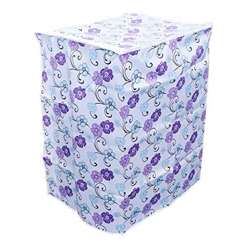 LIOOBO Funda para Lavadora Carga Superior y Secadora Automática Cubierta a Prueba de Polvo Impermeable con Cremallera 55 × 58 × 87 cm (Flor de Tres Colores)
