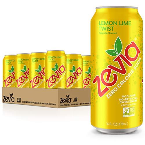 Zevia Zero Calorie Soda, Lemon Lime Twist