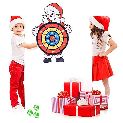 jieGorge Education Toy , Children's Sticky Ball Dart Board Santa Target Sticky Ball Disk , Toys and Hobbies (As Show)