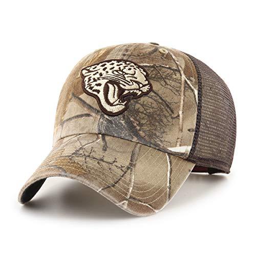 OTS NFL Jacksonville Jaguars Men's Ledgewood Realtree Challenger Adjustable Hat, Team Color, One Size