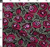 Rot, Rosen, Blumen, Groß Stoffe - Individuell Bedruckt von