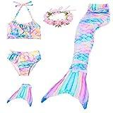 RandWind Meerjungfrauenschwanz für Kinder Flosse Schwanz Badeanzug Prinzessin Bademode Bikini Sets...