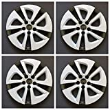 New Wheel Covers Replacements Fits 2016-2017 Toyota Prius 15', 5 Spoke, Silver/ Black, Plastic, Set of Four