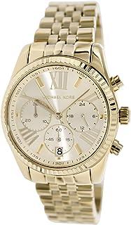 Michael Kors Lexington Women's Gold Dial Stainless Steel Band Watch - MK5556
