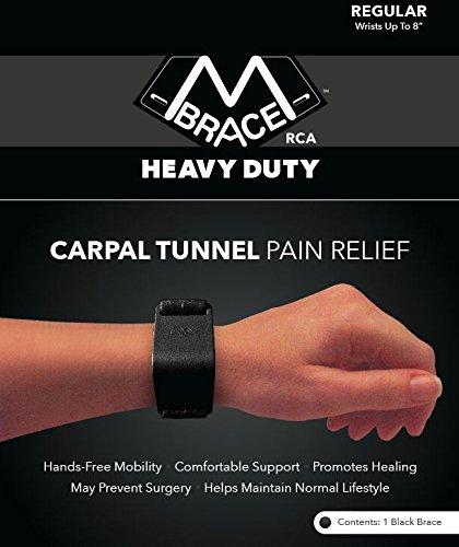 M BRACE RCA Heavy Duty Carpal Tunnel Wrist Support (Regular, Black)